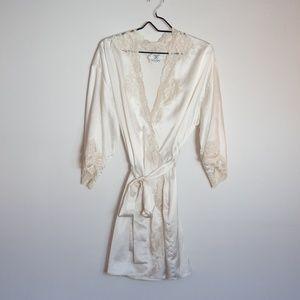 Vtg Valentino Saks Fifth ave Sexy Robe Lingerie